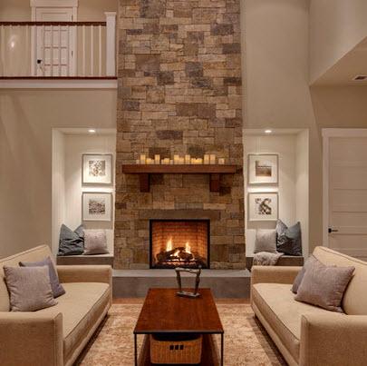Dise o de sala estar con ideas fotos y tips de construcci n construye hogar - Modelos de chimeneas modernas ...