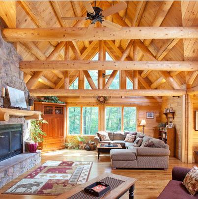 ideas de sala de estar de estilo cabaña Diseo De Sala Estar Con Ideas Fotos Y Tips De Construccin