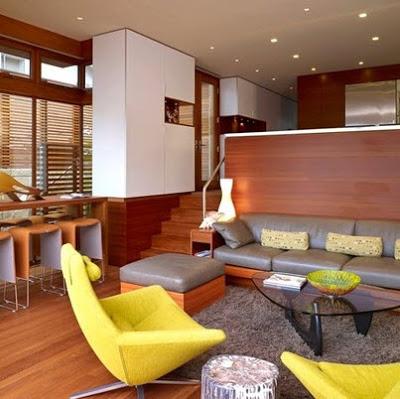 Sala pequeña y moderna