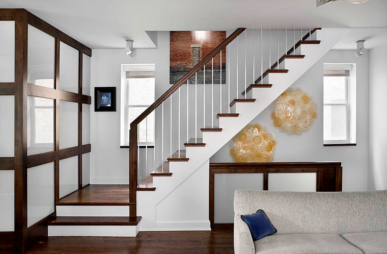 diseo simple y moderna escalera - Escaleras Interiores