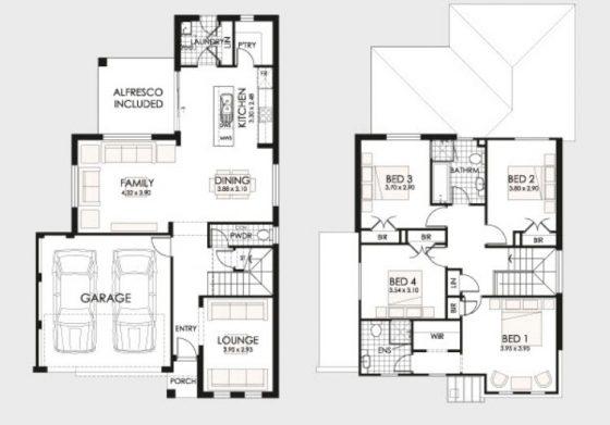 Planos de casas de dos pisos construye hogar for Planos casa dos plantas modernas