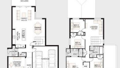 Photo of Planos de casas de dos pisos con diseños de hermosas fachadas