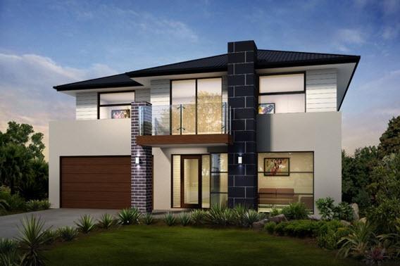 Elegante y moderna casa de dos pisos