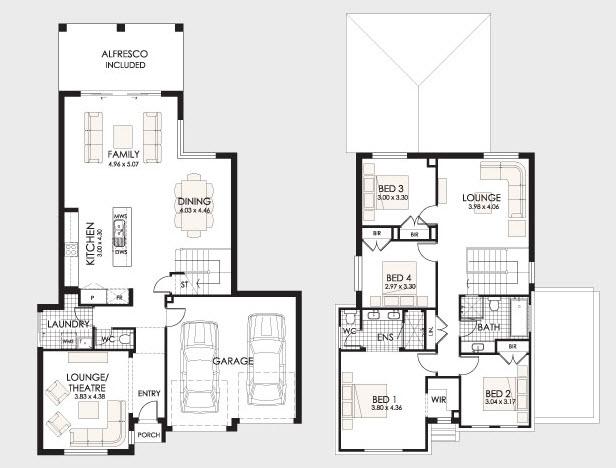 Dise o y planos de casas de dos pisos con ideas para for Planos de casas de dos plantas modernas