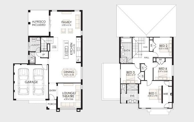 Dise o y planos de casas de dos pisos con ideas para for Planos de construccion