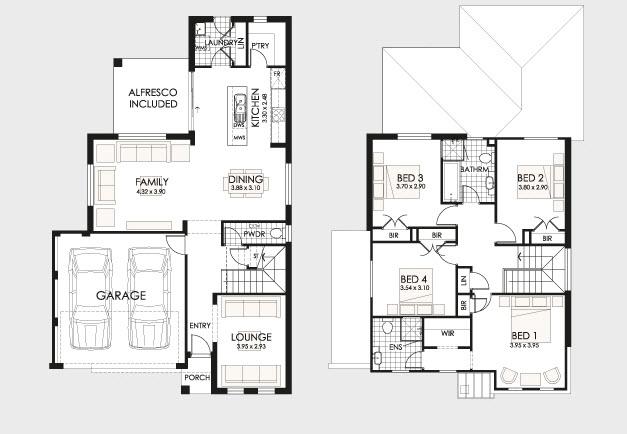 planos de casas de dos pisos en estados unidos