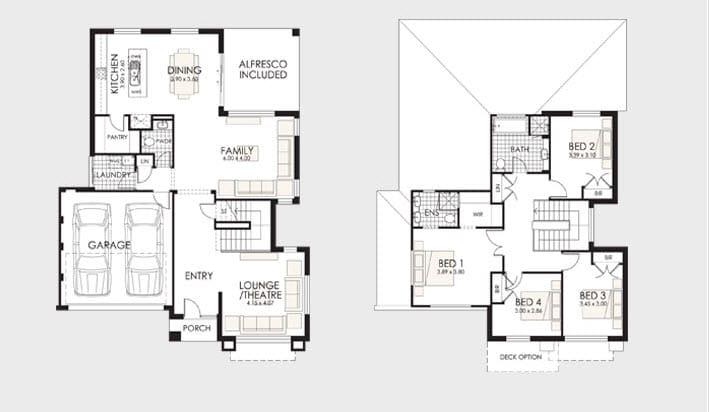 planos de casas modernas de 2 pisos con medidas