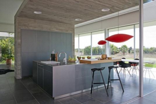 Diseño de cocina en  casa minimalista
