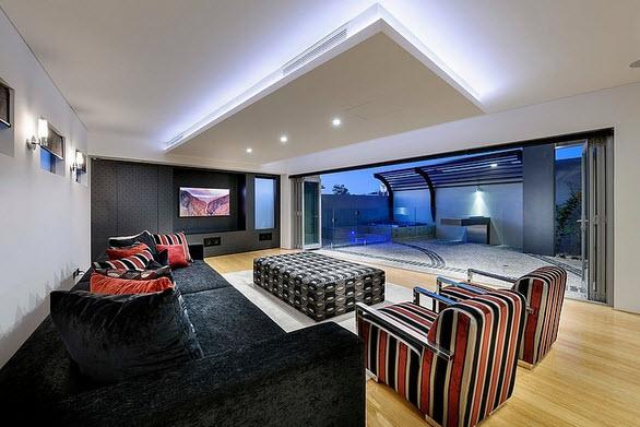 Fachada y dise o interior de casa moderna de dos pisos for Diseno de interiores de apartamentos modernos