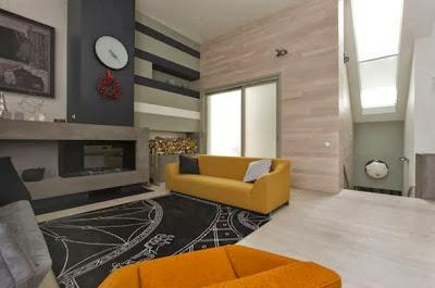 Diseño de sala en vivienda contemporánea