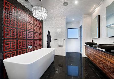 Diseño de cuarto de baño contemporáneo en color negro