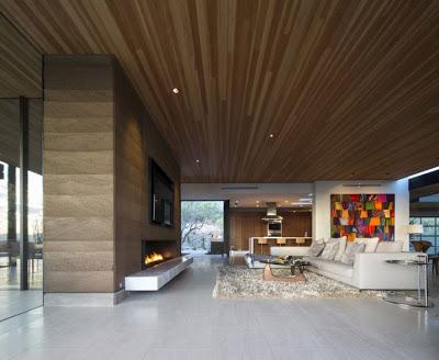 Diseño interior de casa en la montaña SALA