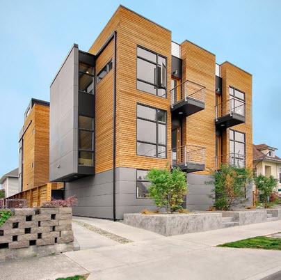 Fachadas de madera de casas modernas fotos construye hogar for Fachadas de edificios modernos