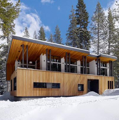 Fachadas de madera de casas modernas fotos construye hogar for Casas de madera minimalistas