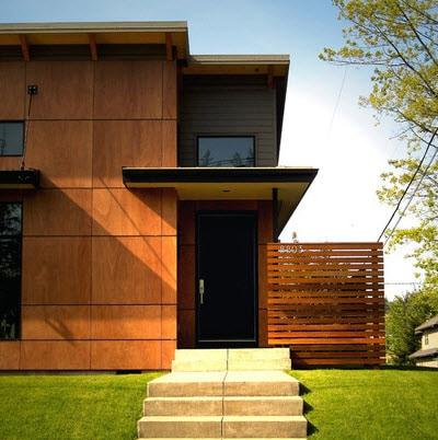 Fachadas de madera de casas modernas fotos construye hogar for Casas de madera modernas