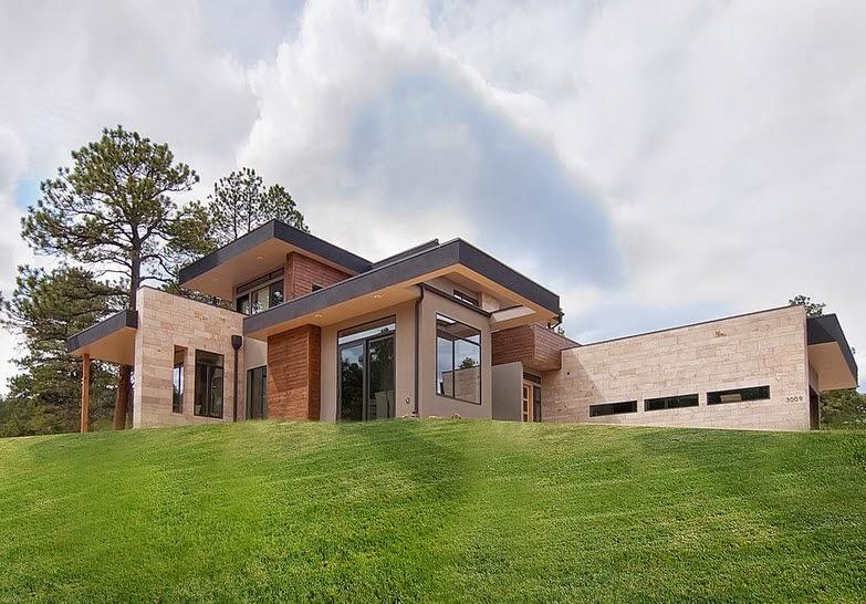 Fachadas de casas de lujo dise o l neas y estilos fotos for Imagenes de disenos de casas