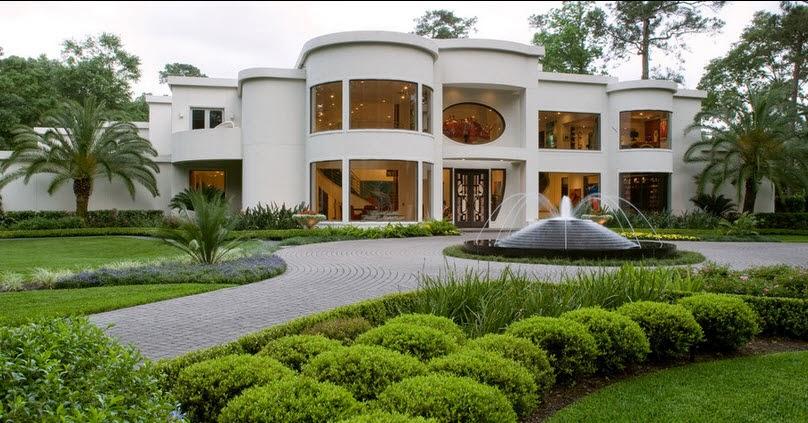 Fachadas de casas de lujo diseo lneas y estilos fotos casa grande de lujo color blanco con pileta al exterior altavistaventures Image collections