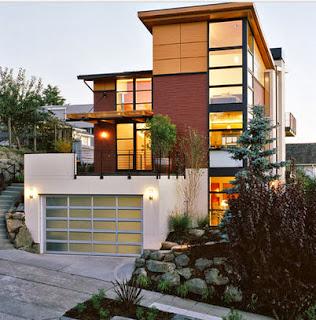 Casa de lujo de tres pisos
