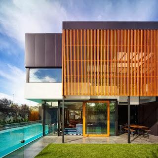 Diseño de fachada de casa moderna lujosa, foto