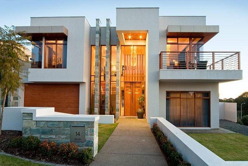Dise o y planos de casas de dos pisos con ideas para for Fotos de casas modernas con balcon
