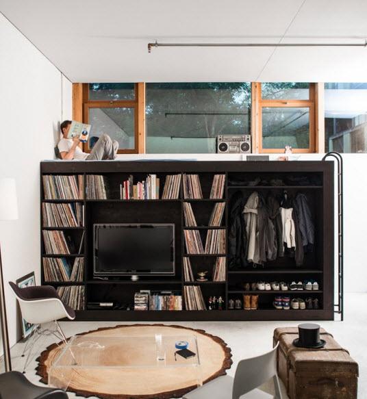 No es mueble modular y tiene cama closet librero y m s for Muebles de departamento