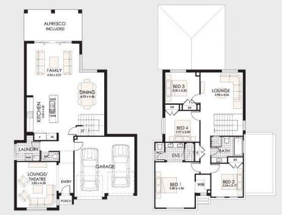 Planos de casas de dos pisos construye hogar for Planos y fachadas de casas pequenas de dos plantas
