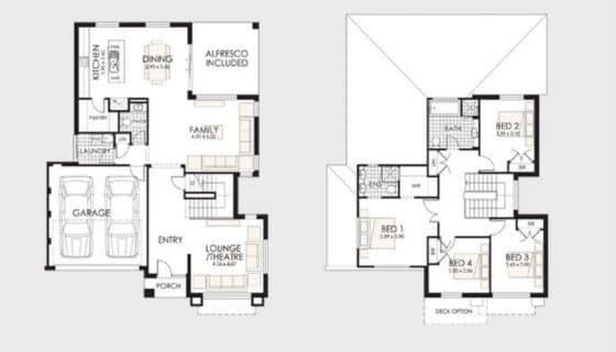 Planos de casa de 2 pisos pequeña 2