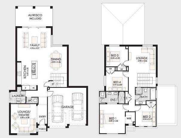 Planos de casas de dos pisos con ideas y dise os que inspiran for Planos de casas de dos pisos
