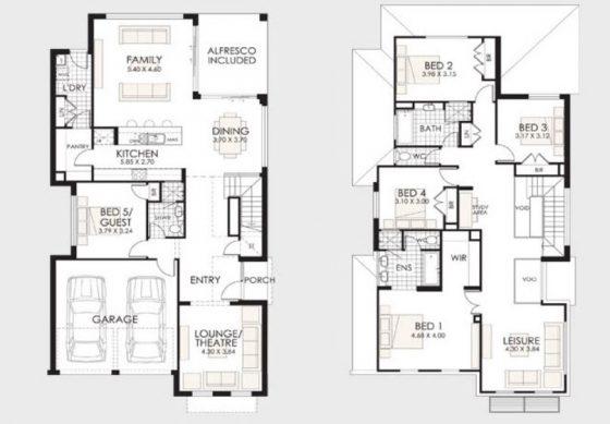 Plano de casa para familia grande