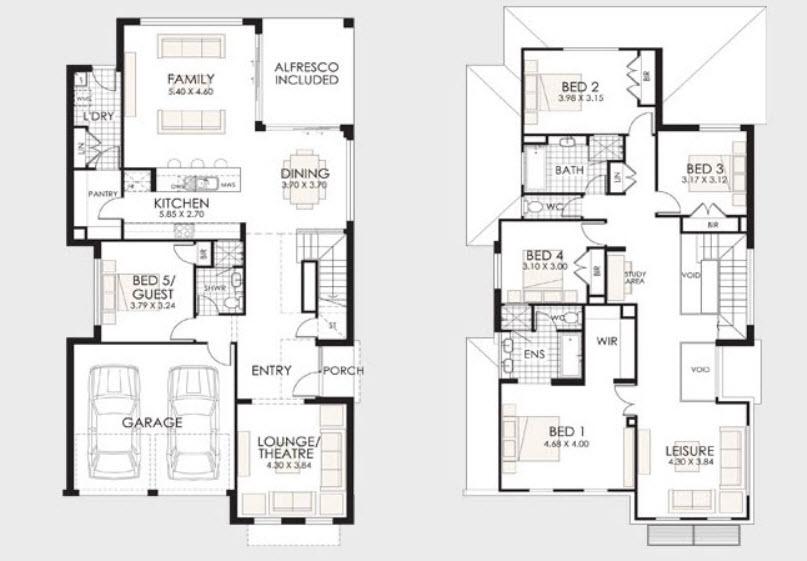 Planos de casas de dos pisos con ideas y dise os que inspiran - Planos de casas grandes ...