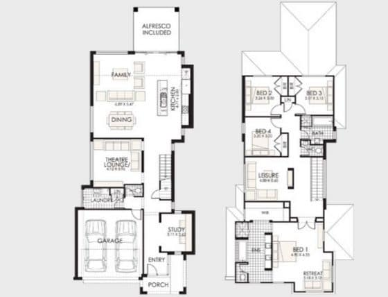 Planos de casas de dos pisos construye hogar - Distribucion casa ...