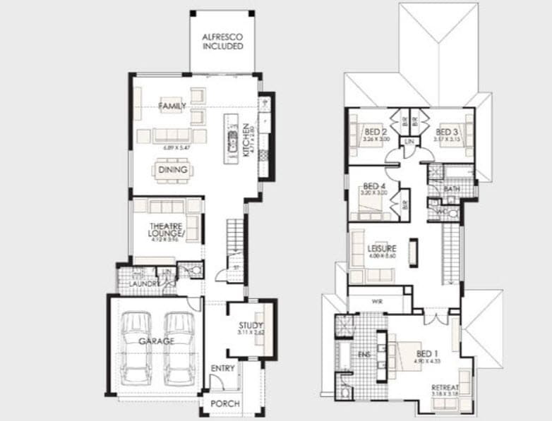 Planos de casas de dos pisos con ideas y dise os que inspiran for Distribucion de casas modernas de una planta