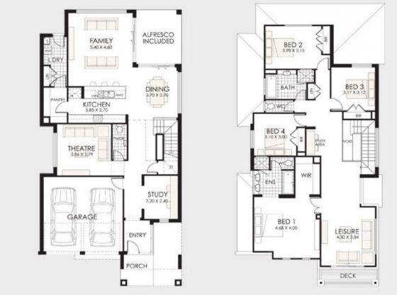 planos de casas de 2 pisos argentina