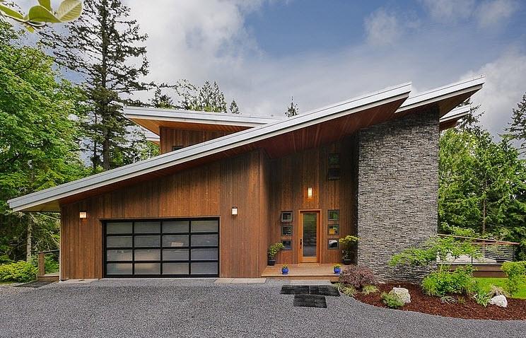 Dise o de casa moderna en la monta a rodeada de vegetaci n - Apartamentos de montana ...