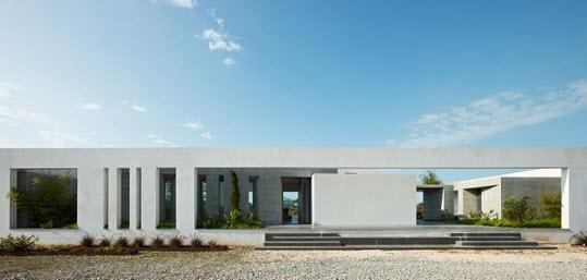 Fachada de casa minimalista