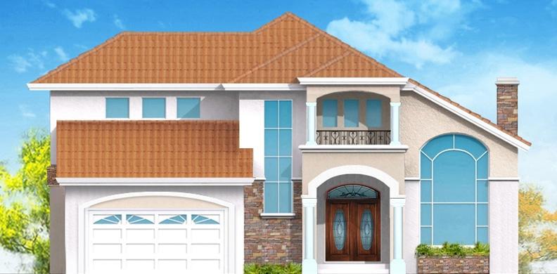 Fachada de casa moderna de dos niveles construye hogar for Como hacer una fachada de casa moderna