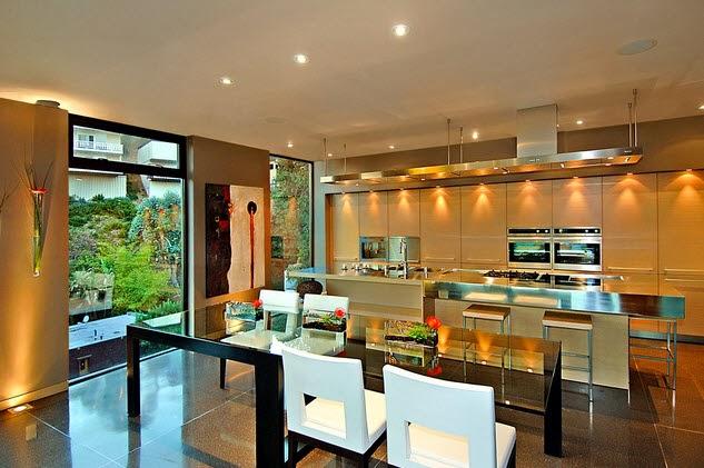 Dise o de una moderna casa de piedra con hormig n en la colina construye hogar for Disenos de interiores de casas modernas