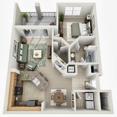 Departamento con un dormitorio
