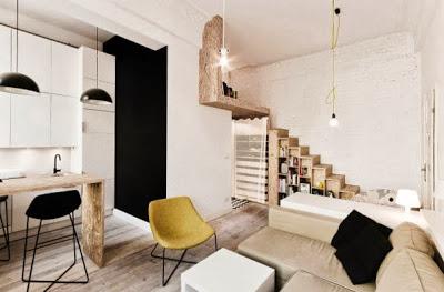 Diseño de interiores de pequeño departamento de 29 metros