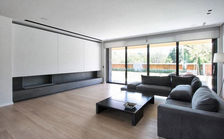 Dise o de dos casas modernas en un s lo terreno planos y for Casas minimalistas modernas interiores