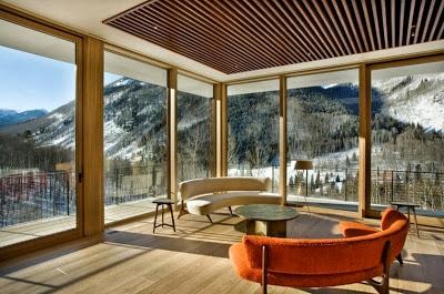Diseño de la sala de casa diseñada para climas frios