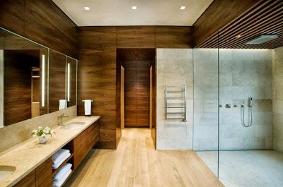 Diseño del cuarto de baño de casa  de dos pisos