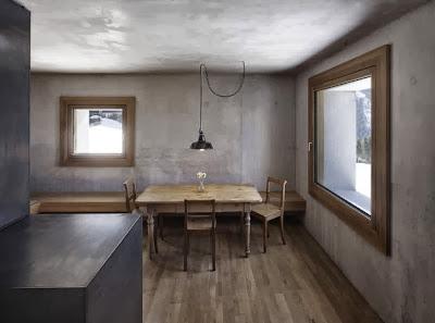 Diseño de pequeña sala en climas frios