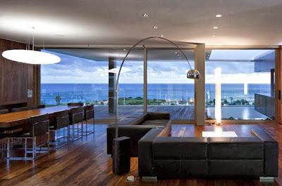Diseño de sala de casa moderna de playa