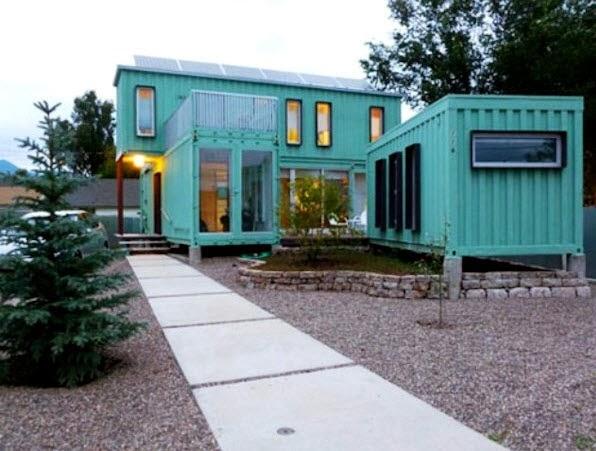 Dise o de casa hecha de contenedores reciclados de dos - Casa hecha de contenedores ...