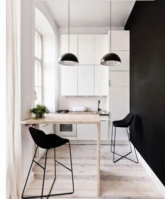 Moderna cocina de mini departamento