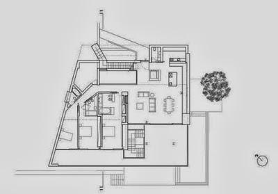 Plano de casa moderna de playa