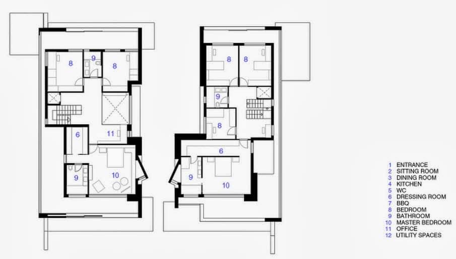 planos de 2 casas en un mismo terreno
