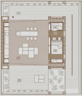 Plano de casa especialmente diseñada que funciona con energía solar