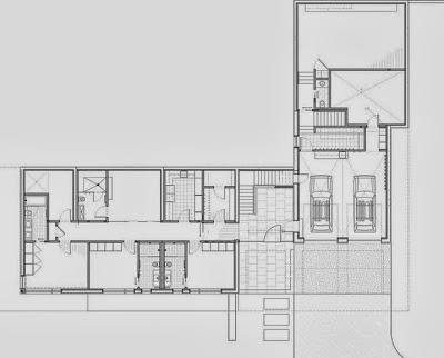 Plano del primer piso de la casa especial para climas frios
